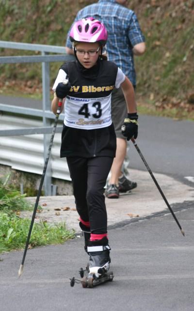 Auf Skiroller in Biberau